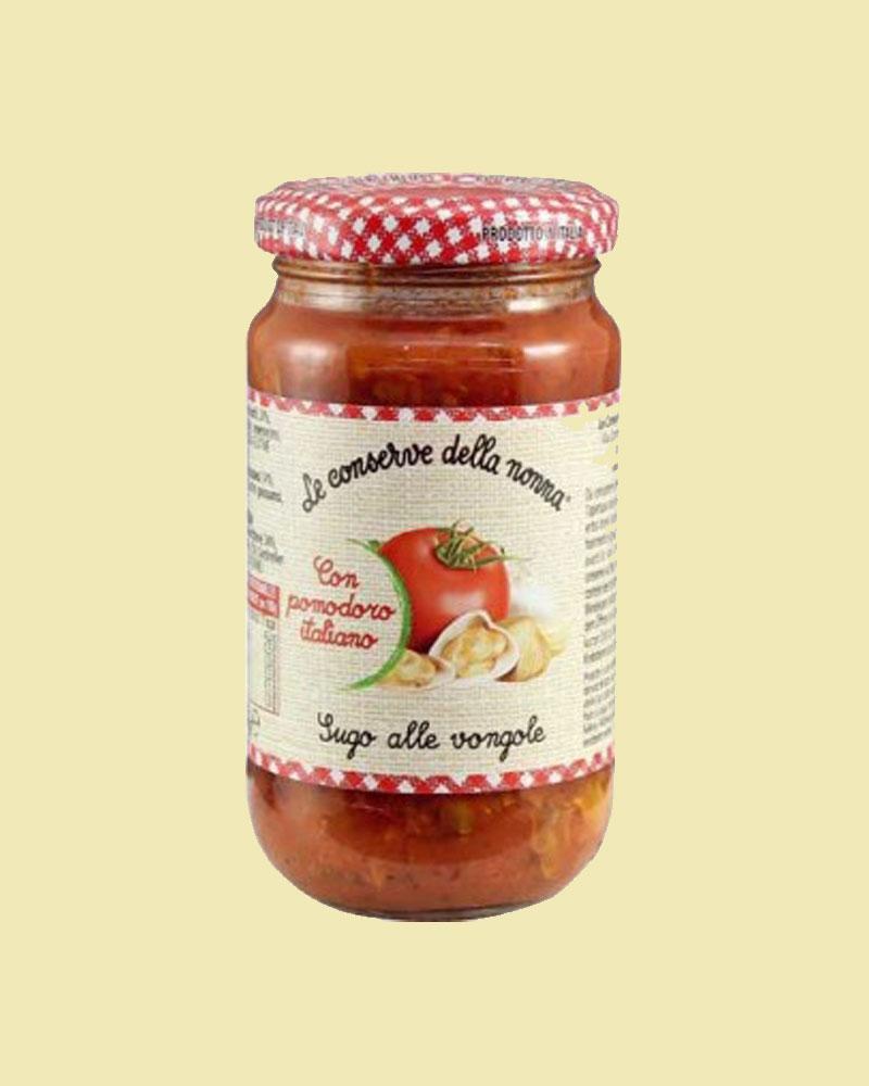 Sugo-alle-vongole-Tomatensoße-mit-Muscheln